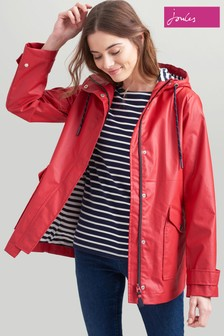 Joules Red Sailaway Short Raincoat