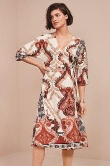 שמלת מעטפת מבד ג'רזי