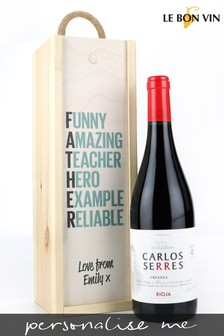 Personalised Best Dad Rioja Wine Gift Box by Le Bon Vin