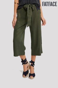 FatFace Green Copper And Black Exmouth Crop Trouser