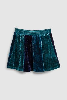 Colourblock Velvet Skirt (3-16yrs)