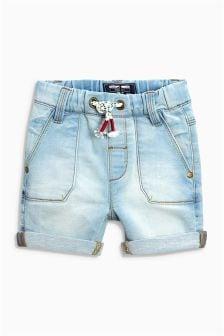Pantalones cortos de denim de punto (3 meses-6 años)