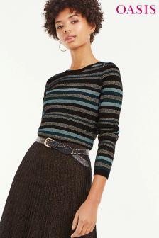 Oasis Blue/Black Stripe Cassie Ariel Jumper