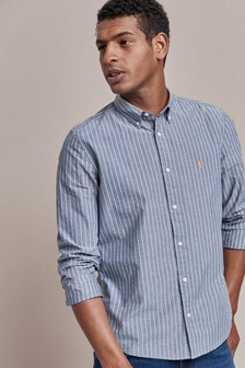 Regular Fit Stripe Stag Shirt