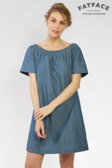 FatFace Chambray Eleanor Bardot Dress