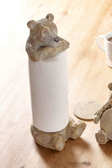 Bear Kitchen Roll Holder