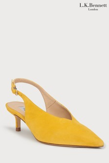 L.K.Bennett Yellow Livia Court Shoe