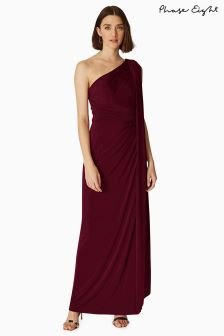 Phase Eight Berry Winnie One Shoulder Maxi Dress