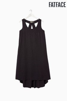 FatFace Black Lola Linen Blend Dress