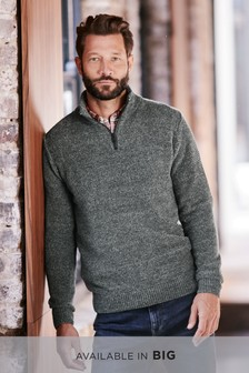 Mens Jumpers   Plain, Textured   Cable Jumpers   Next UK 75e3107fd439