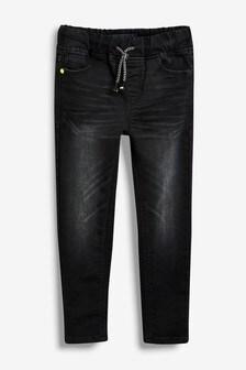 Джинсы без застежки в стиле спортивных брюк (3-16 лет)