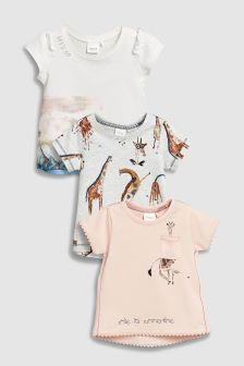 Giraffe T-Shirt Three Pack (3mths-6yrs)