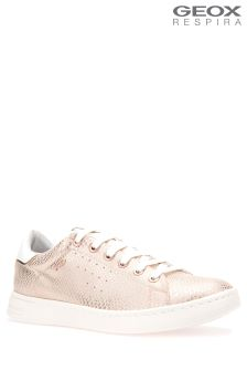 Geox Jaysen Rose Gold Lightweight Cupsole Trainer