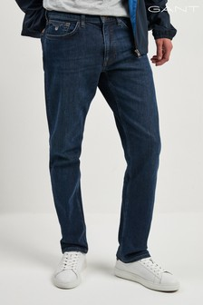 Gant 中腰藍色標準款牛仔褲