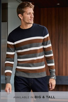 Stripe Crew Jumper