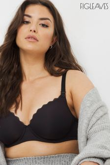 Figleaves Flexi Wire Moulded Nursing Bra Black