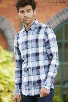 Tommy Hilfiger Blue Oldport Check Shirt