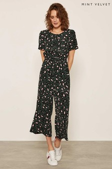 Mint Velvet Green Stephanie Print Jumpsuit