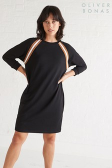 Oliver Bonas Black Ribbon Tape Dress