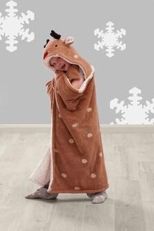 Reindeer Hooded Throw