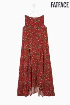 FatFace Red Lula Alhambra Palms Dress