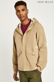 Jack Wills Sand Hartley Cotton Parka