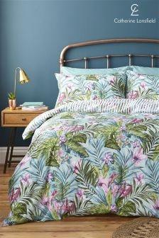 Комплект постельного белья с тропическим рисунком Catherine Lansfield
