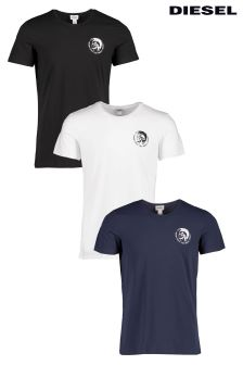 Diesel® Navy/White/Black Randal T-Shirt Three Pack
