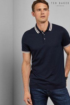 Ted Baker Navy Stripe Poloshirt