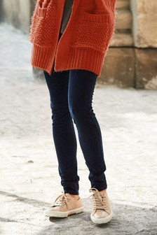 Leopard Jacquard Skinny Jeans