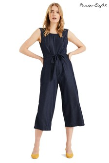 Phase Eight Blue Stacey Denim Look Jumpsuit
