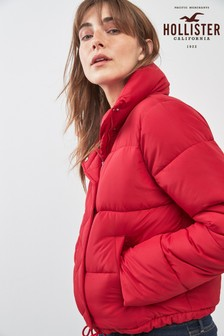 Hollister Red Padded Jacket