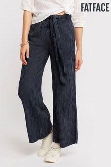 FatFace Blue Wide Leg Stripe Trouser