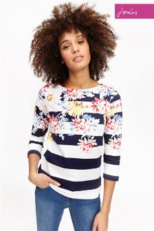 Joules Star Harbour Print Jersey Top