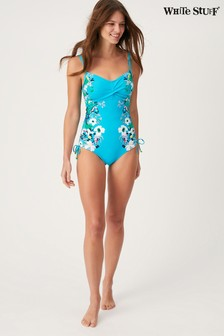 White Stuff Blue Toucan Placement Swimsuit