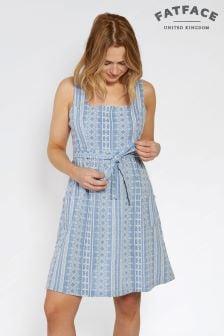 Платье из ткани шамбре с вышивкой FatFace Serena