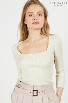 Ted Baker Hhonor Square Neck 3/4 Sleeve Top