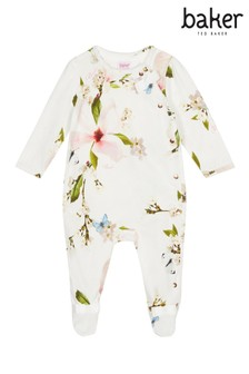 673d75e8a276 baker by Ted Baker Baby Girls Print Sleepsuit