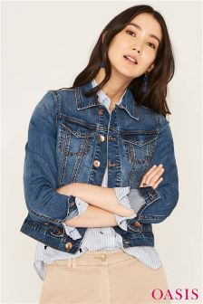 Oasis Blue Betty Denim Jacket