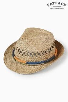 Filcowy kapelusz z taśmą z dzianiny FatFace
