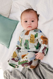 Multi Animal Character Sleepsuit (0mths-2yrs)
