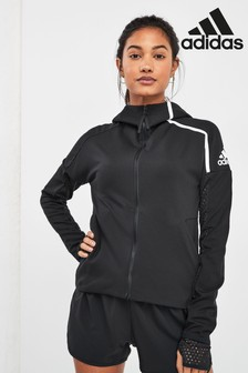 adidas ZNE Black Zip Through Hoody