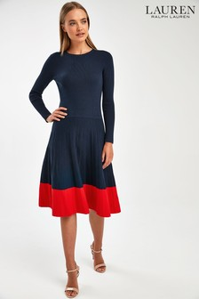 Lauren Ralph Lauren® Navy Dendrya Knitted Dress