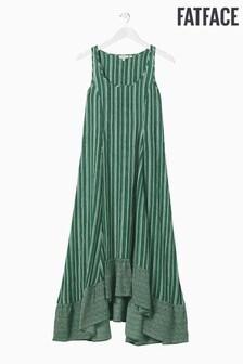 FatFace Green Lula Linear Geo Dress