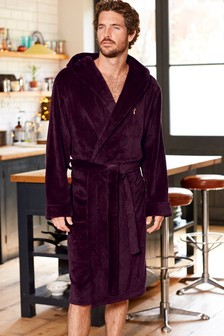 super soft hooded robe