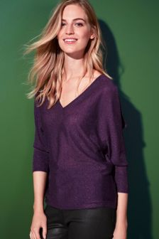 Sparkle Split Sleeve Sweater