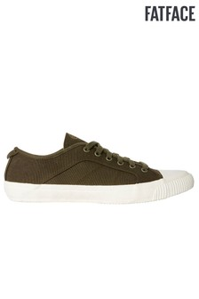 FatFace Green Organic Lace-Up Trainer