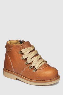 Italian Leather Hiker Boots (Younger)