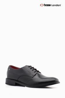 Base London Black Wide Fit Regent Formal Shoe