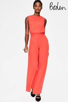 Boden Orange Clarissa Jumpsuit